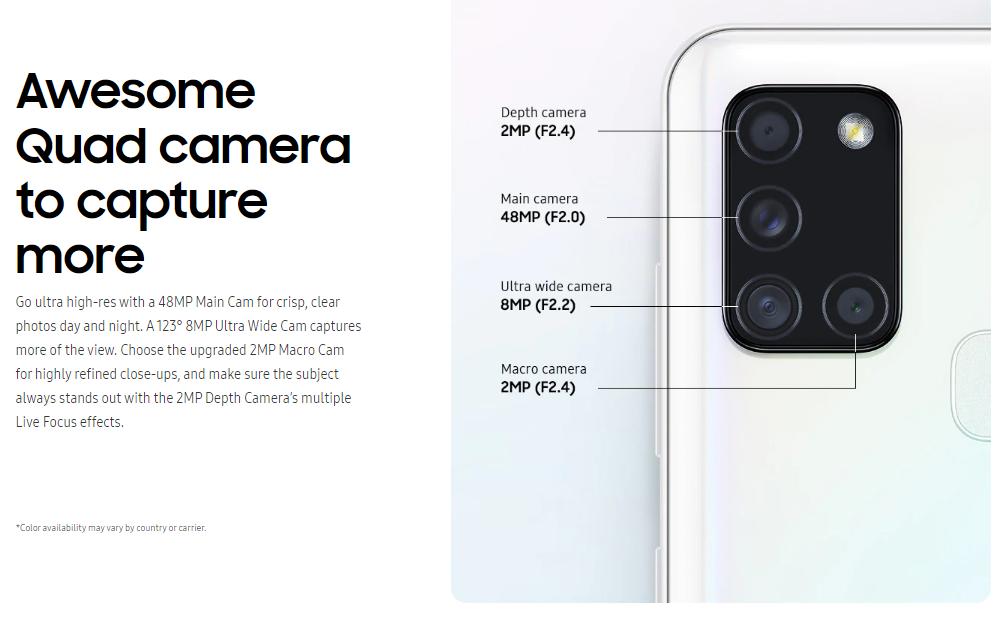 Kamera Samsung A21s, Harga dan Spesifikasi Samsung A21s