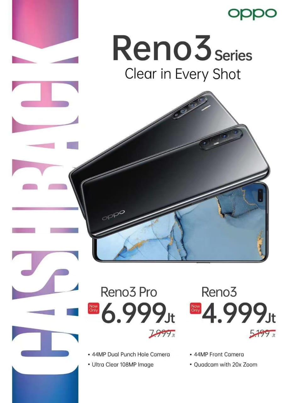 Harga Reno3 dan Reno 3 Pro