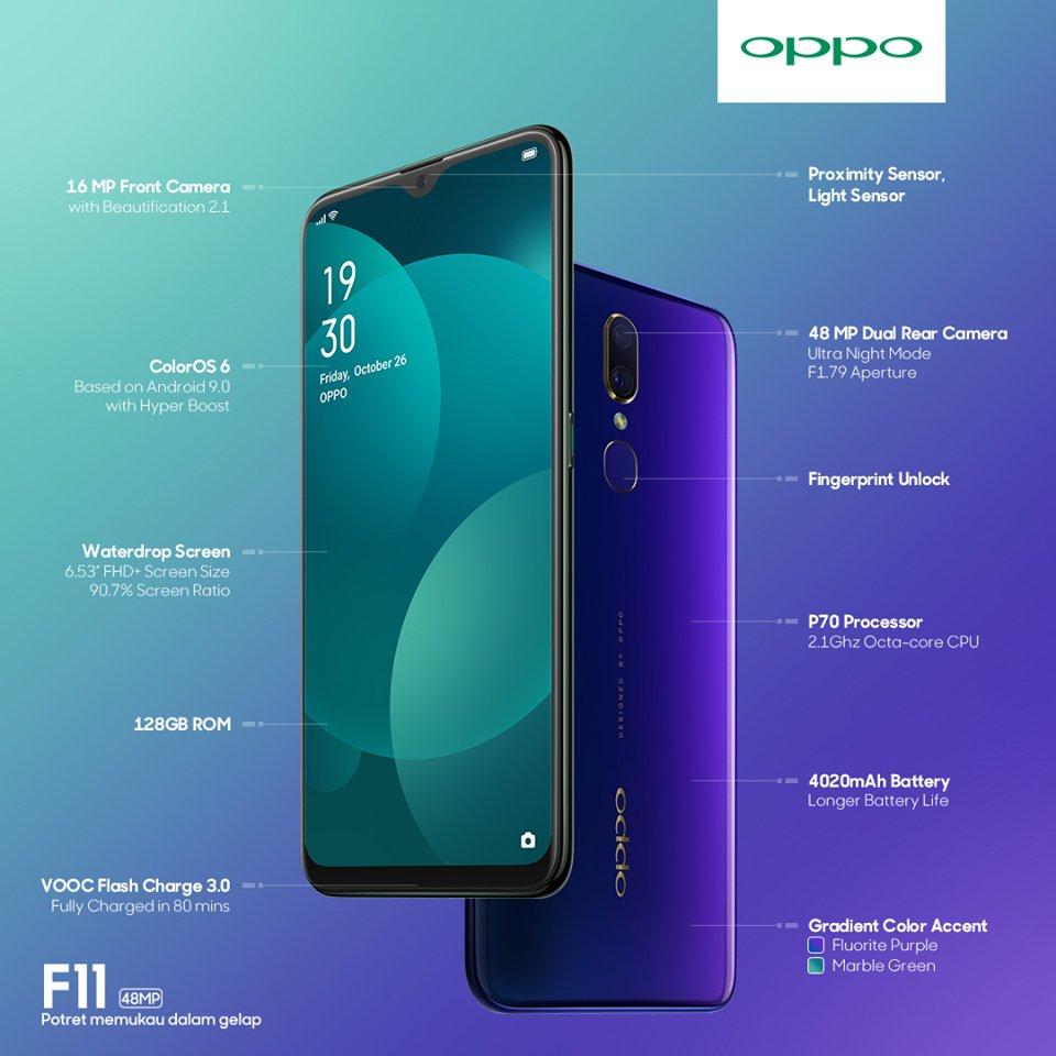 Harga Oppo F11 Terbaru 2020, Spesifikasi Oppo F11
