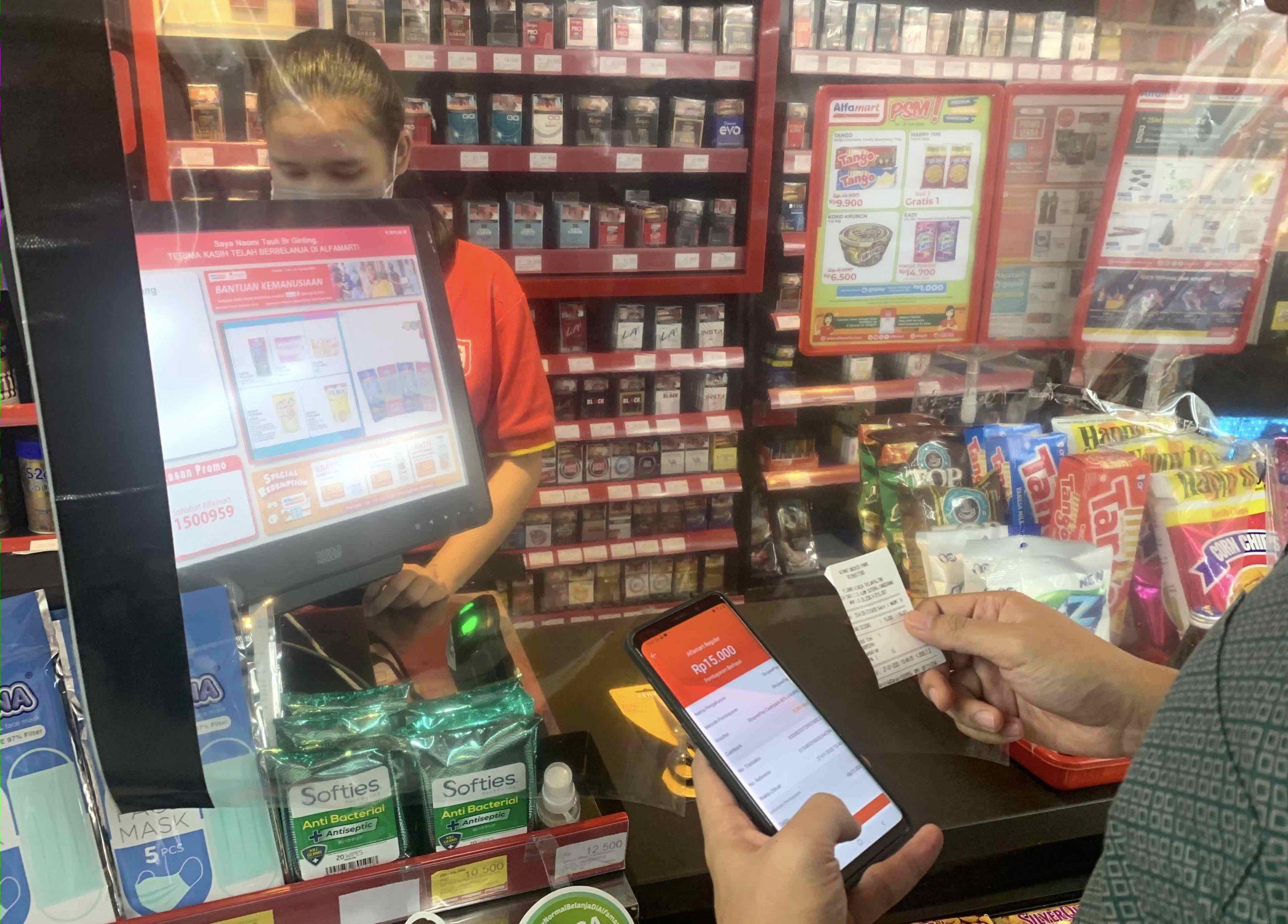 transaksi shopeepay alfamart