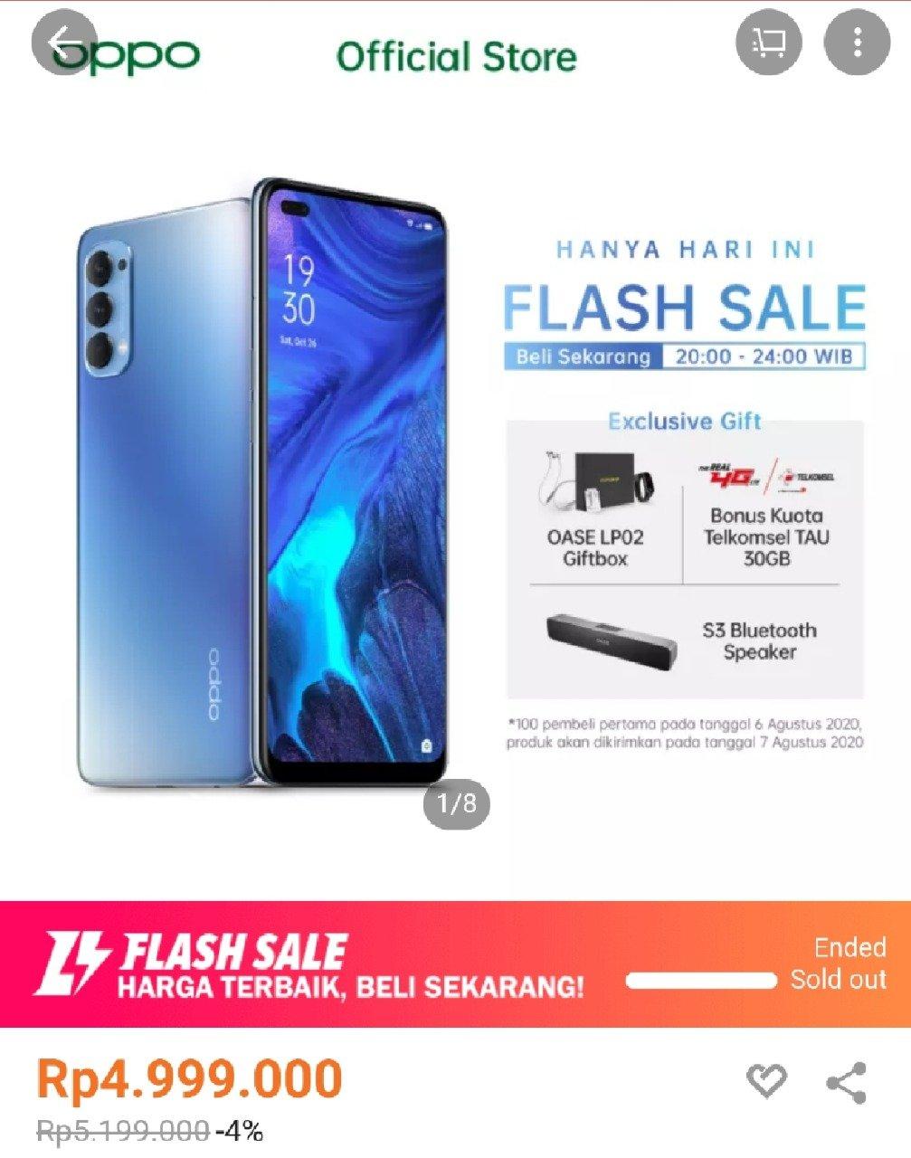 Flash Sale Oppo Reno4