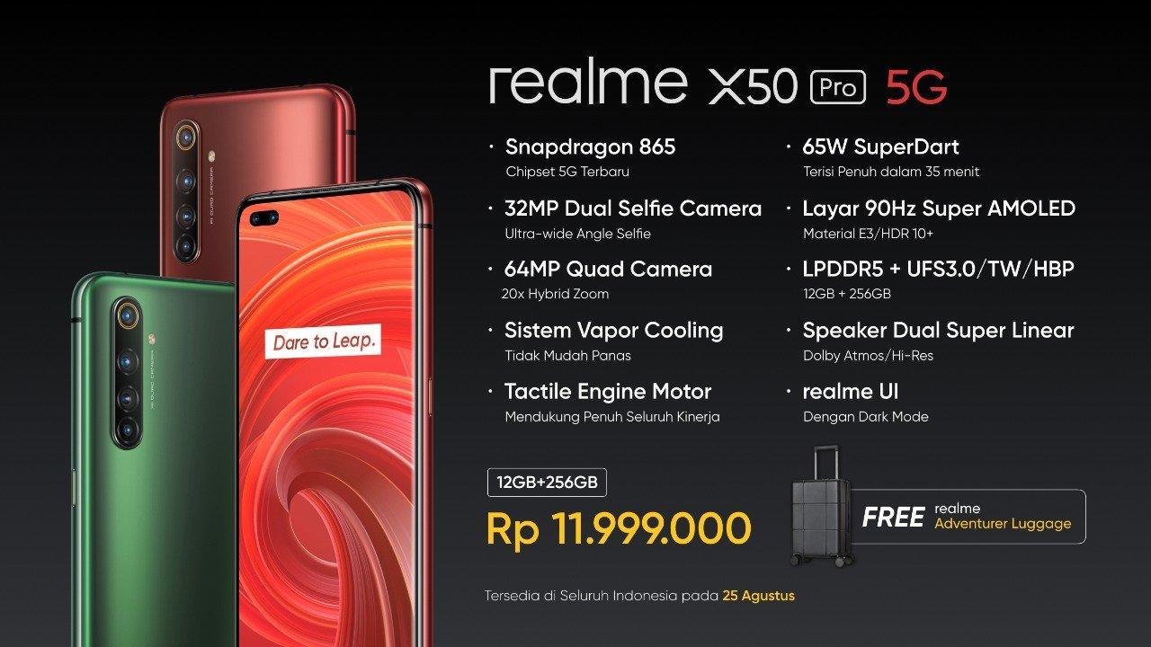 Harga dan Spesifikasi Realme X50 Pro 5G