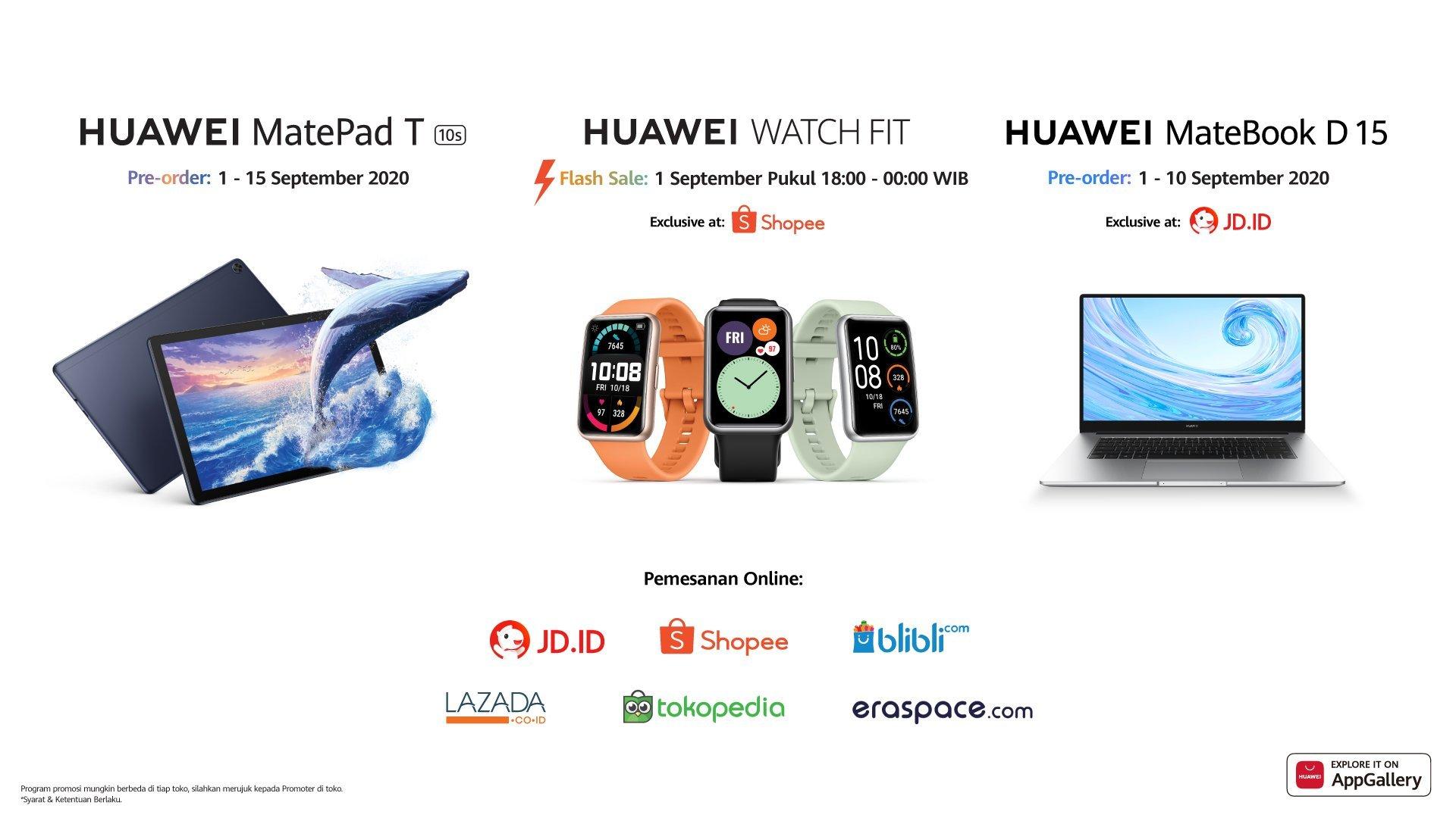 tiga perangkat baru huawei