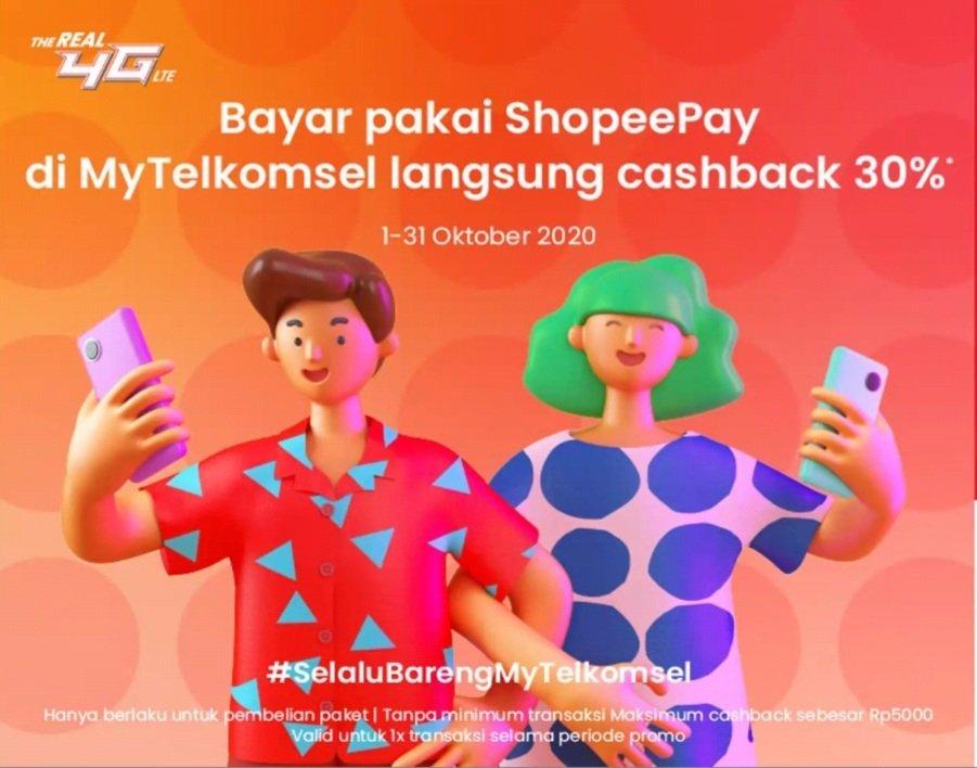 ShopeePay alternatif pembayaran mytelkomsel