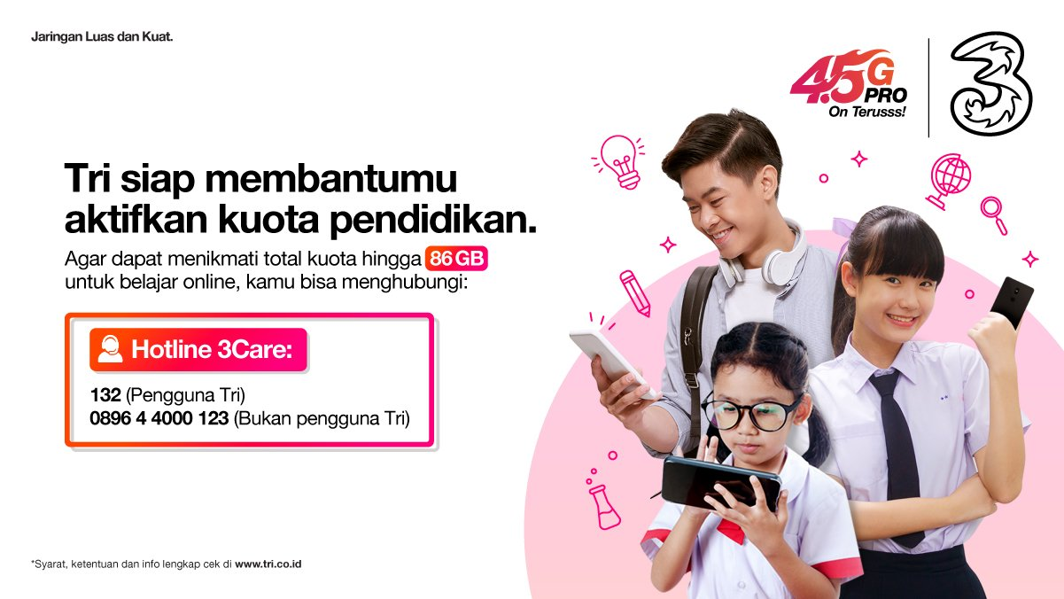 Hotline Kuota gratis pendidikan