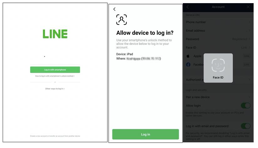 Login line tanpa password