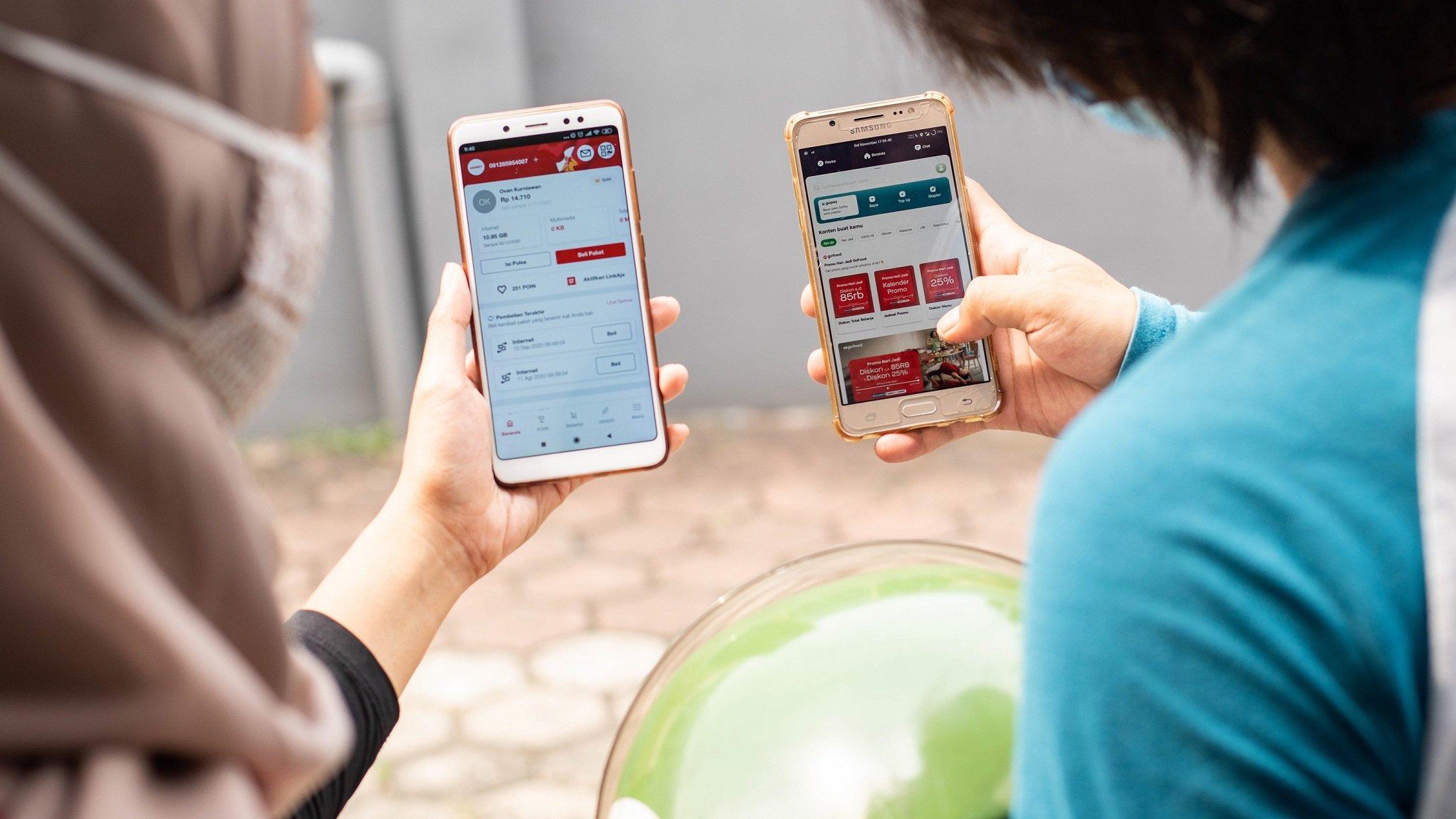 telkomsel gojek ekonomi digital