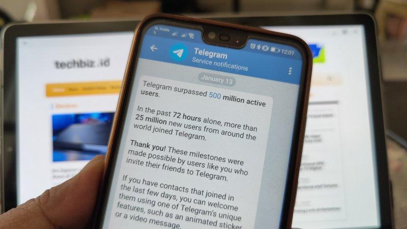 pengguna baru telegram