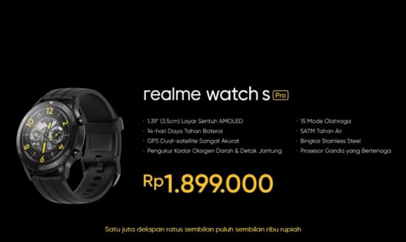 realme watch s pro resmi dijual