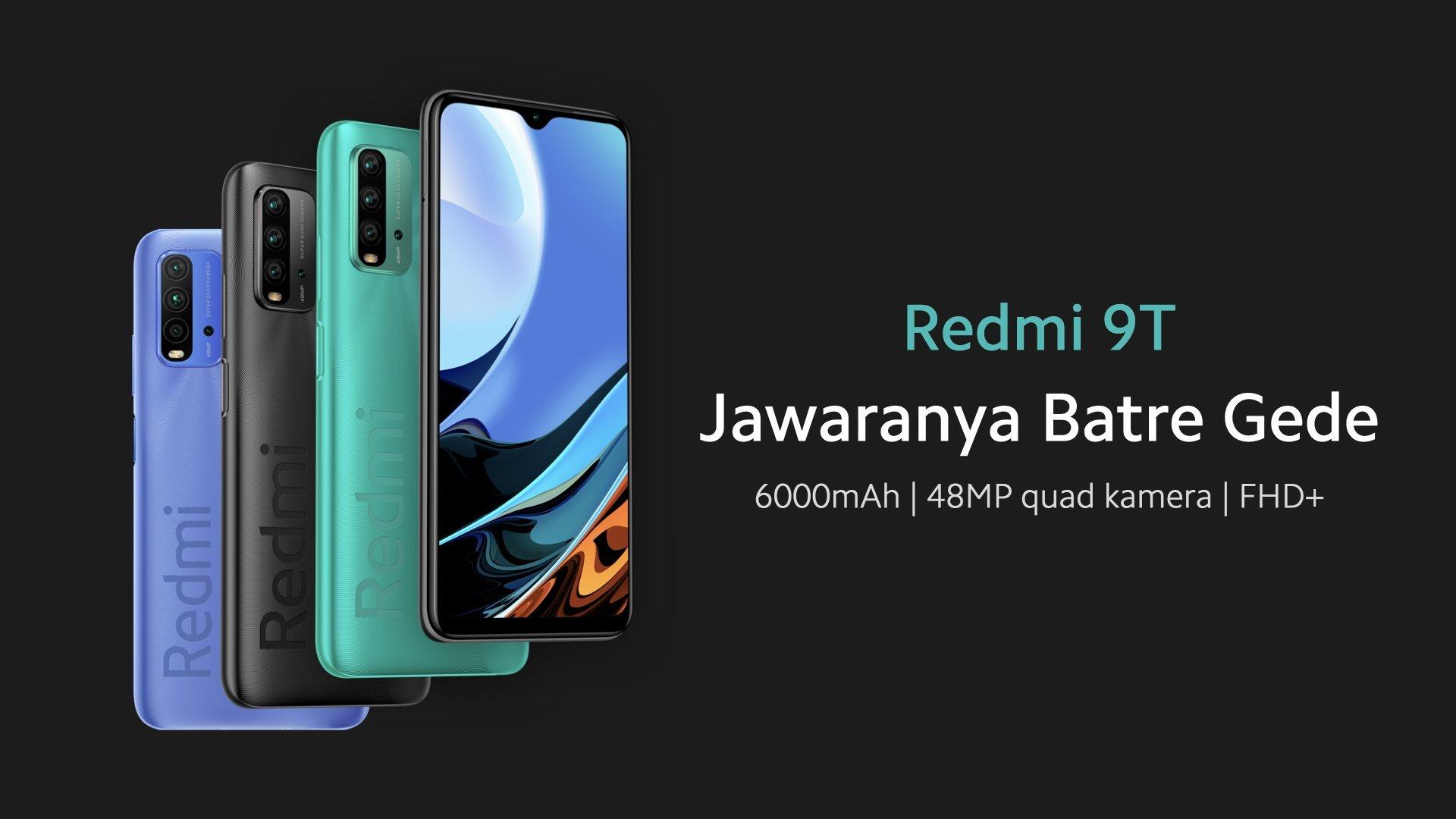 Redmi 9T Indonesia, smartphone Xiaomi Rp1 Jutaan