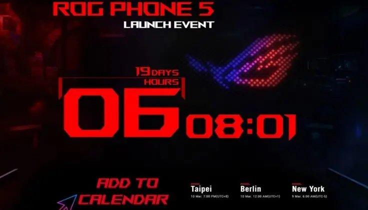 Tanggal peluncuran ROG Phone 5