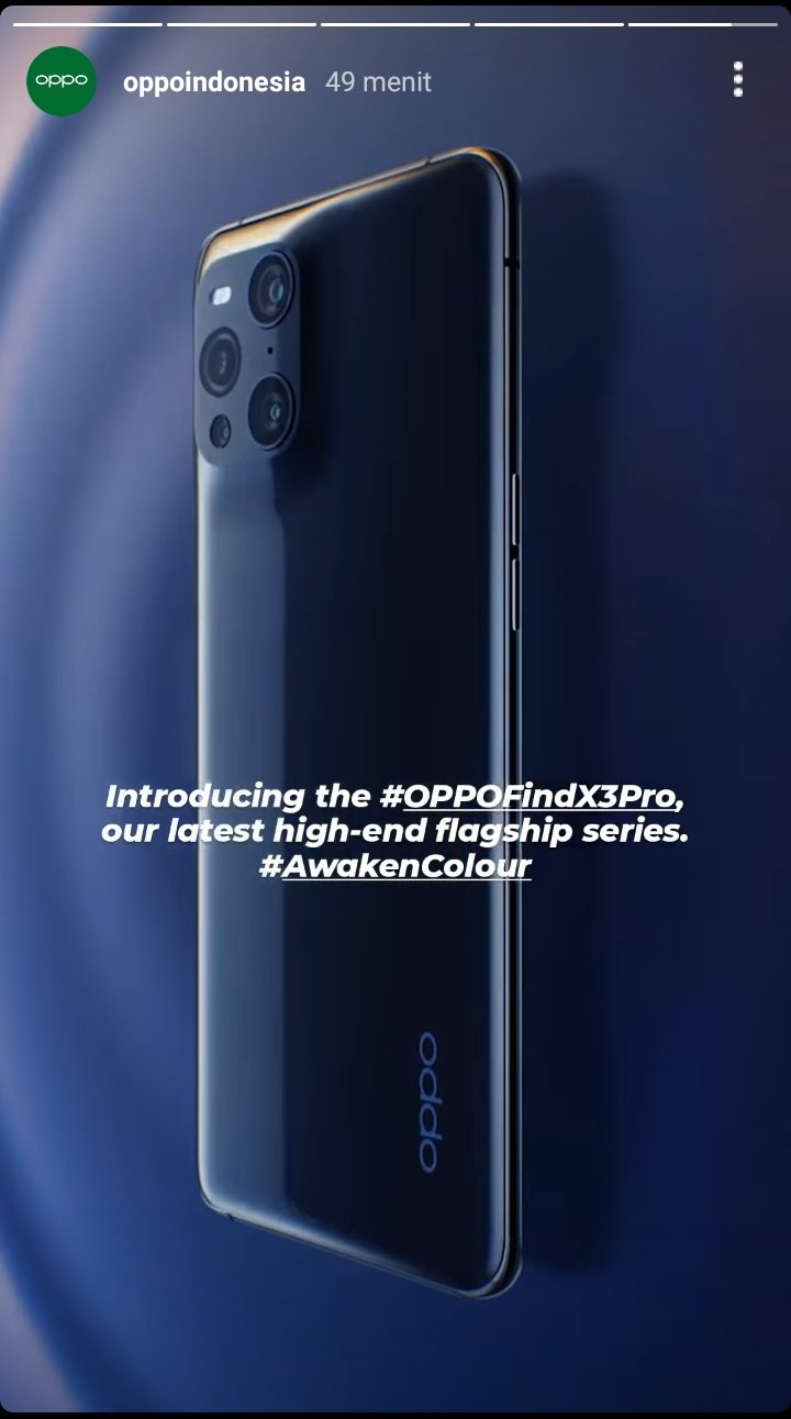 Oppo Find X3  Pro Indonesia