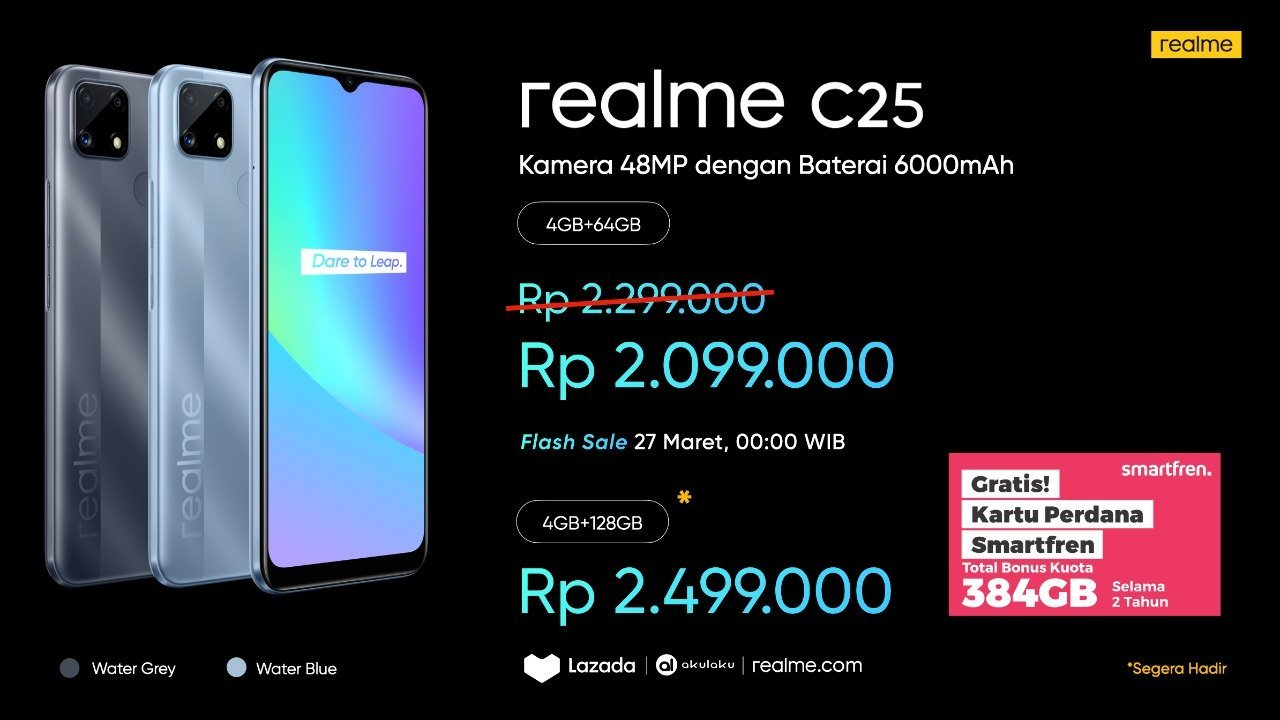 harga realme c21 dan c25