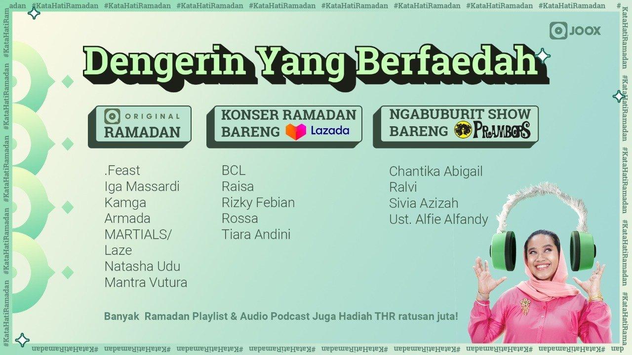 Joox Ramadhan konten berfaedah
