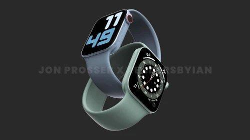 Render desain Apple Watch 7