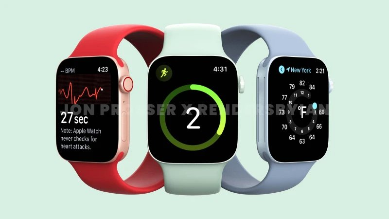 Produk Apple, Apple watch series 7, Render desain Apple Watch 7