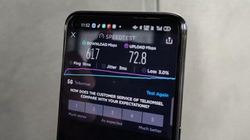 uji kecepatan 5g telkomsel