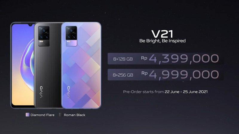 harga dan spesifikasi vivo V21