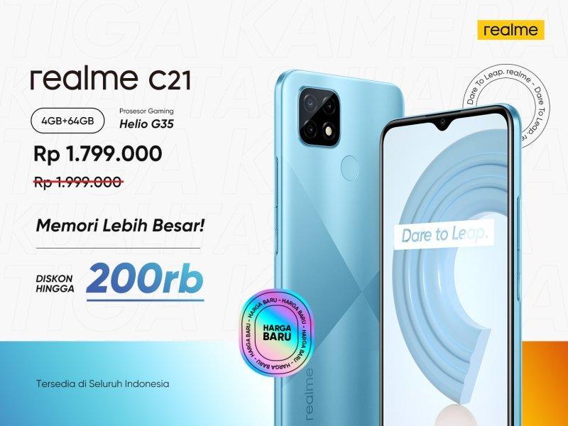 Harga Realme C21 baru