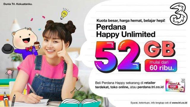 Perdana Happy Unlimited 52 GB