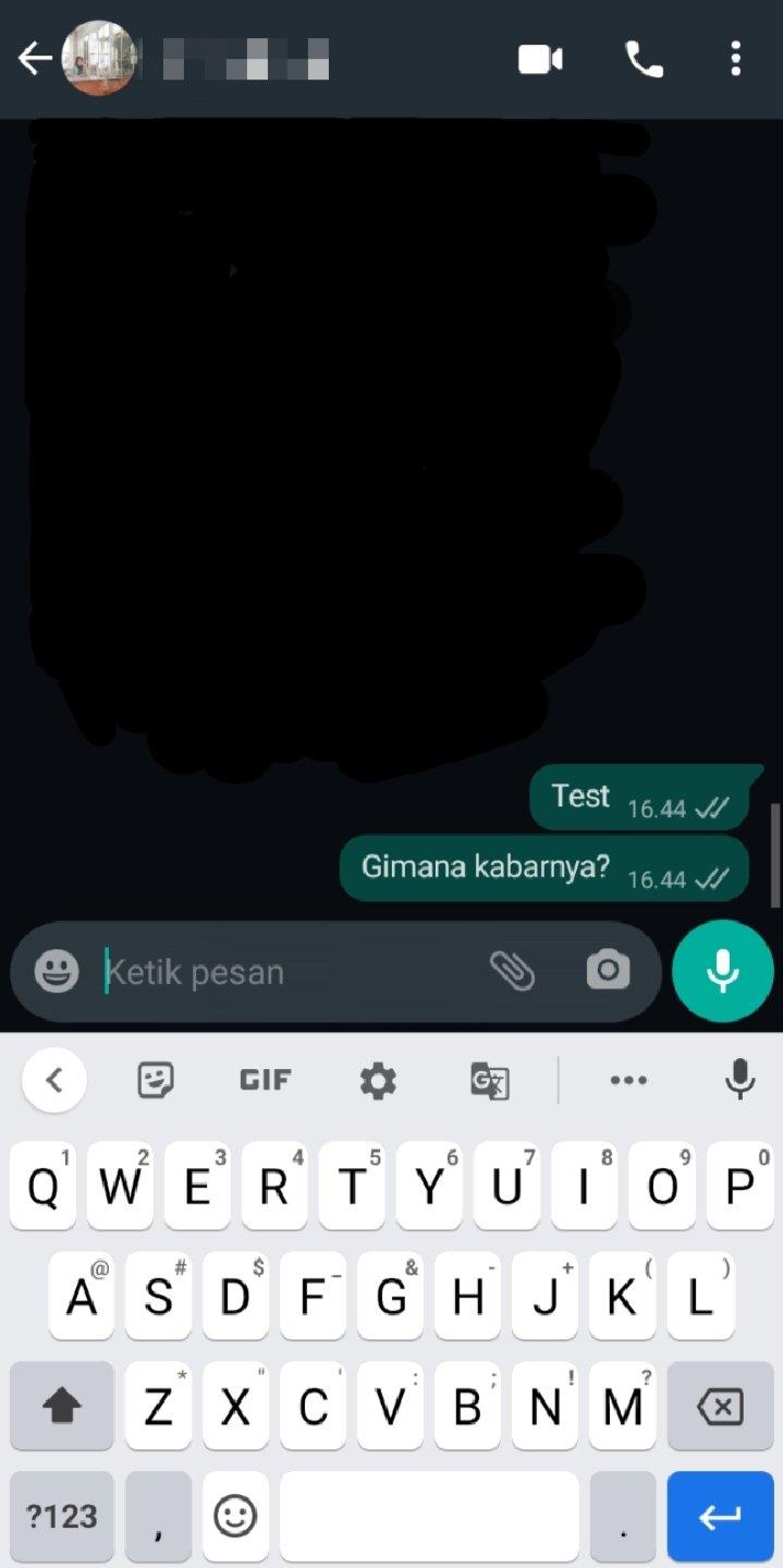 Cara kirim foto sekali lihat WhatsApp