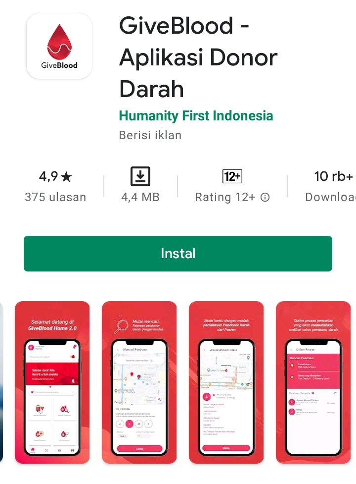 Aplikasi pencari pendonor darah