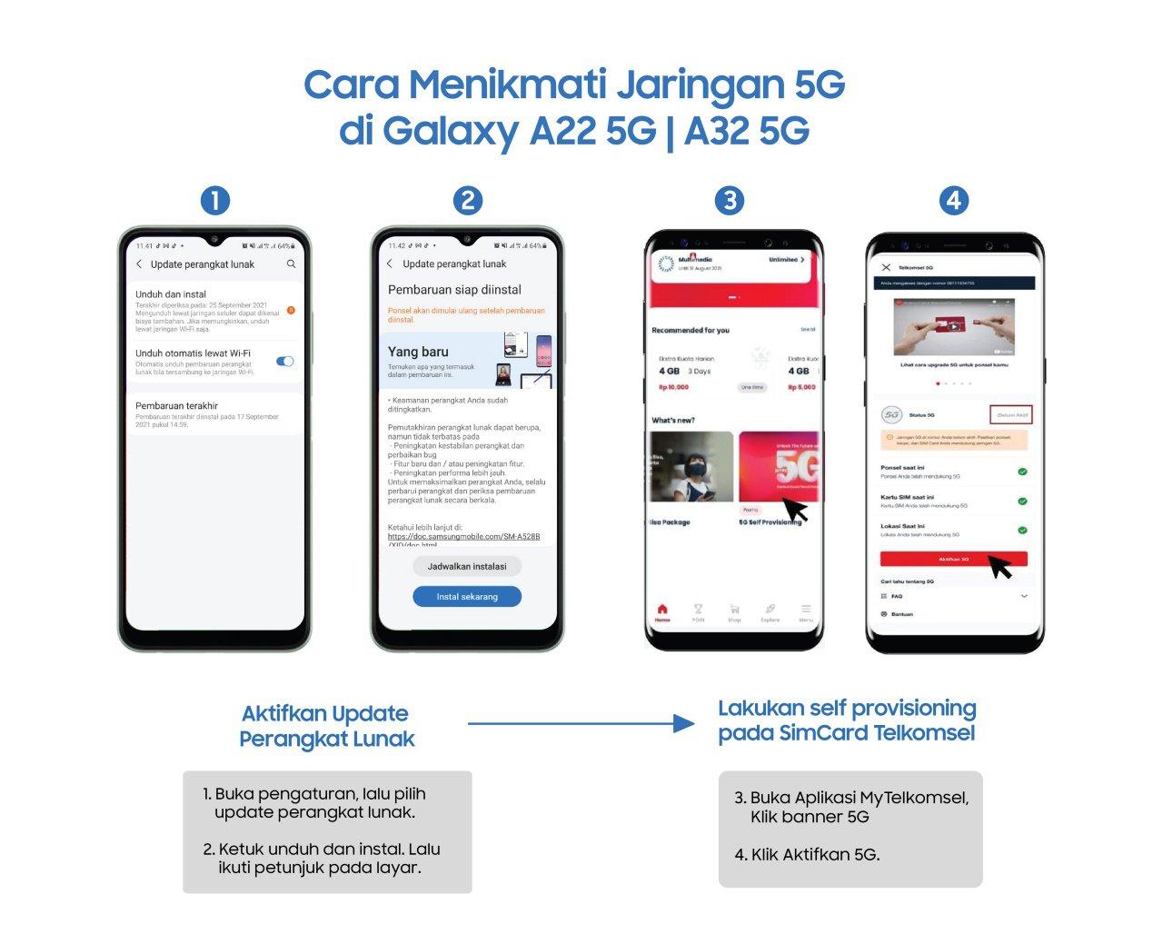 Update software Galaxy A22 5G